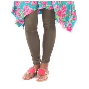 NWT Simply Southern One Size Olive Green Leggings